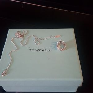 Tiffany and co crown charm necklace